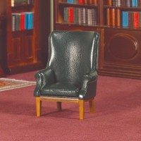 2442 Green 'Leather' Armchair