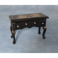 Black Chinese Drawer Table DF875