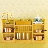 Wall Shelf with Plate Rack -3536