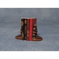 Set of Books & Bookends D2348