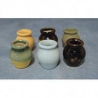 Round Vases, 6 pack D2233