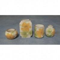 Floral Vases, 4pack D2234