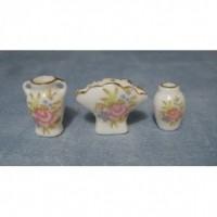 Floral Vases, 3 pack D2237