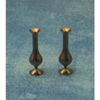 Metal Vases, 2 pieces -9184