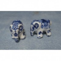 Pair of China Elephants D2250