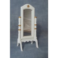DF221  White Cheval Mirror