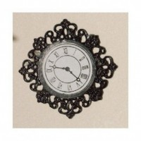 Black Fancy Wall Clock 3585