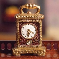 Gold Carriage Clock 4528