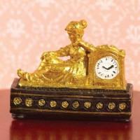 Gold Ormolu-style Clock 6359