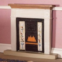 2844-White Victorian Fireplace