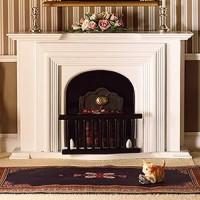 2155 White Georgian Fireplace