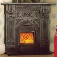 5953 Black Corner Fireplace