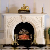 7436 Carved Stone' Fireplace