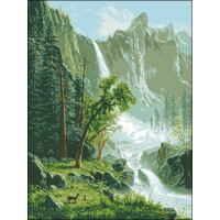 A.Bierstadt -Waterfalls view