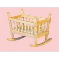 Barewood rocking cradle