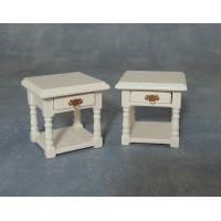 Bedside Table White Pk2