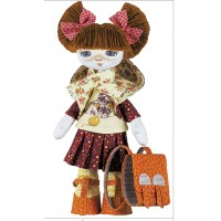 Sewing dolls-First Grader Girl