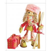 Sewing dolls-Female skier